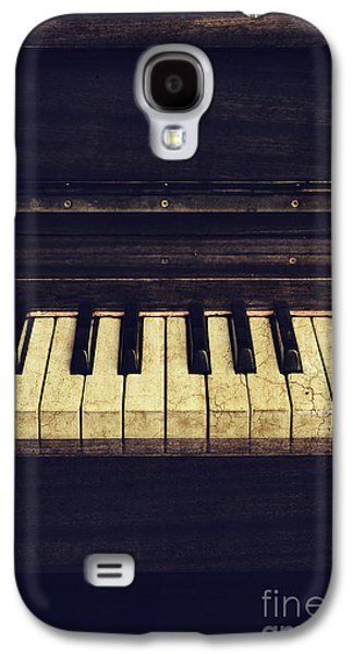 Abstracts Pyrography Galaxy S4 Cases - Piano Galaxy S4 Case by Jelena Jovanovic