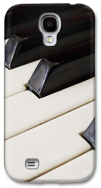 Abstracts Pyrography Galaxy S4 Cases - Piano keys Galaxy S4 Case by Jelena Jovanovic