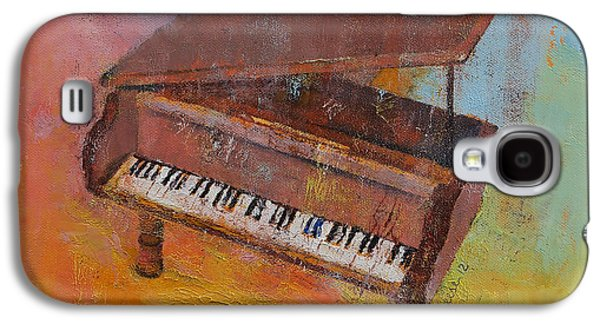 Plans Paintings Galaxy S4 Cases - Piano Galaxy S4 Case by Michael Creese