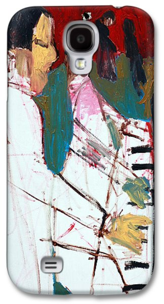 Dance Floor Paintings Galaxy S4 Cases - Piano Players Galaxy S4 Case by Anon Artist