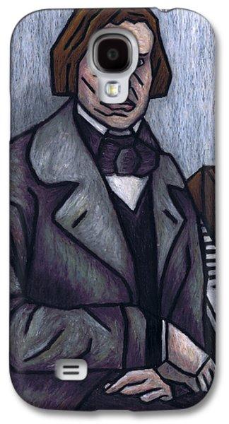 Person Pastels Galaxy S4 Cases - Pianos Finest Poet Fryderyk Chopin Galaxy S4 Case by Kamil Swiatek