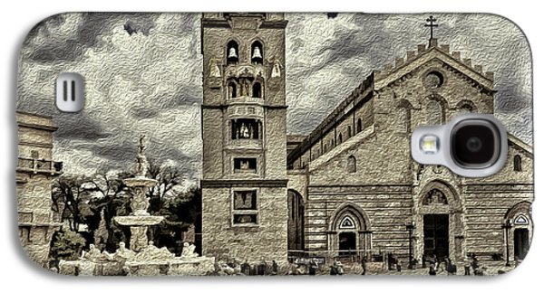 Mechanism Mixed Media Galaxy S4 Cases - Piazza del Duomo Galaxy S4 Case by Maria Coulson