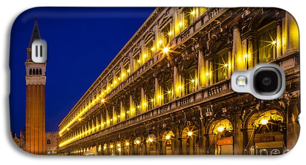 Beauty Mark Photographs Galaxy S4 Cases - Piazza San Marco by night Galaxy S4 Case by Inge Johnsson