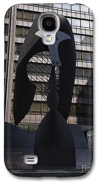 Pablo Galaxy S4 Cases - Picasso in Chicago Galaxy S4 Case by David Bearden