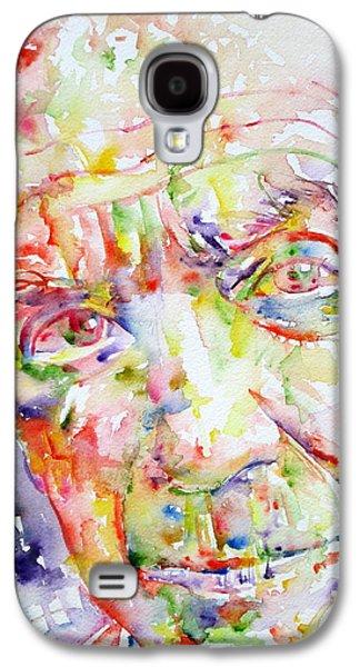 Pablo Galaxy S4 Cases - Picasso Pablo Watercolor Portrait.2 Galaxy S4 Case by Fabrizio Cassetta