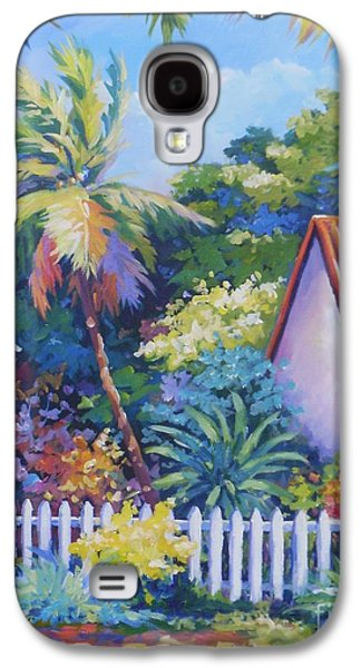 Fence Paintings Galaxy S4 Cases - Picket Fence Galaxy S4 Case by John Clark