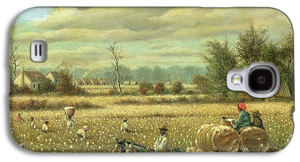 Slaves Galaxy S4 Cases - Picking Cotton Oil On Board Galaxy S4 Case by William Aiken Walker