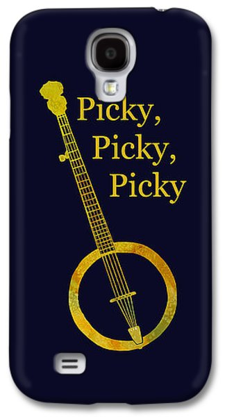 Nashville Paintings Galaxy S4 Cases - Picky Banjo Galaxy S4 Case by Jenny Armitage