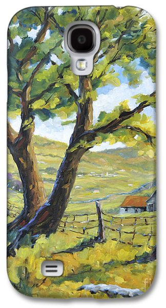 Canadiens Paintings Galaxy S4 Cases - Picnic with a View by Prankearts Galaxy S4 Case by Richard T Pranke