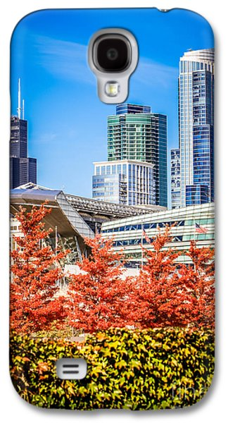 Soldier Field Galaxy S4 Cases - Picture of Chicago in Autumn Galaxy S4 Case by Paul Velgos