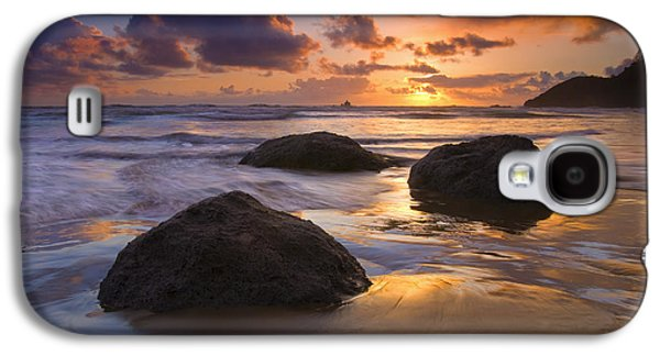 Beach Sunsets Galaxy S4 Cases - Pieces of Eight Galaxy S4 Case by Mike  Dawson