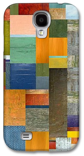 Multicolored Digital Galaxy S4 Cases - Pieces Parts V Galaxy S4 Case by Michelle Calkins