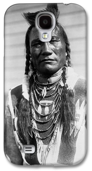 Braids Galaxy S4 Cases - Piegan Indian Man circa 1909 Galaxy S4 Case by Aged Pixel