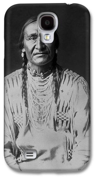 Braids Galaxy S4 Cases - Piegan Indian Man circa 1910 Galaxy S4 Case by Aged Pixel