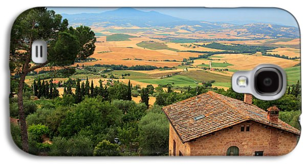 Tuscan Hills Galaxy S4 Cases - Pienza Landscape Galaxy S4 Case by Inge Johnsson