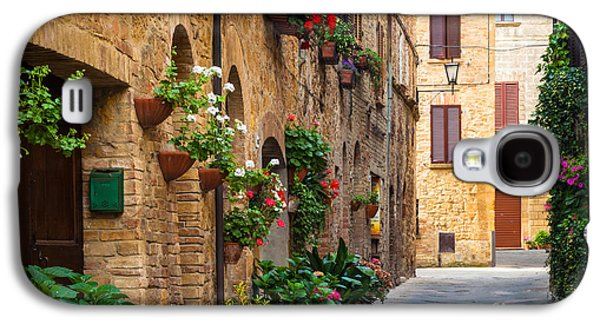 Facade Galaxy S4 Cases - Pienza Street Galaxy S4 Case by Inge Johnsson
