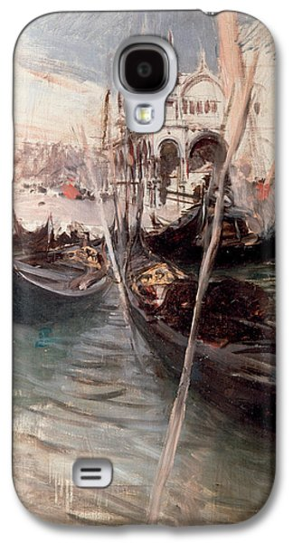 Boats In Water Paintings Galaxy S4 Cases - Pier and Saint Marc in Venice Galaxy S4 Case by Giovanni Boldini