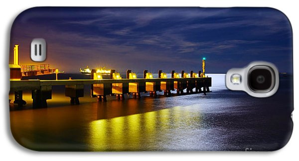 Atmosphere Photographs Galaxy S4 Cases - Pier at Night Galaxy S4 Case by Carlos Caetano