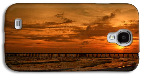 Panama City Beach Galaxy S4 Cases - Pier at Sunset Galaxy S4 Case by Sandy Keeton
