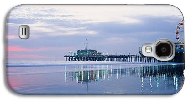Rollercoaster Photographs Galaxy S4 Cases - Pier With A Ferris Wheel, Santa Monica Galaxy S4 Case by Panoramic Images
