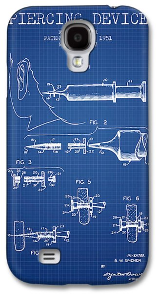 Ears Digital Art Galaxy S4 Cases - Piercing Device Patent From 1951 - Blueprint Galaxy S4 Case by Aged Pixel