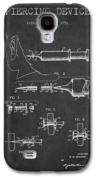Ears Digital Art Galaxy S4 Cases - Piercing Device Patent From 1951 - charcoal Galaxy S4 Case by Aged Pixel