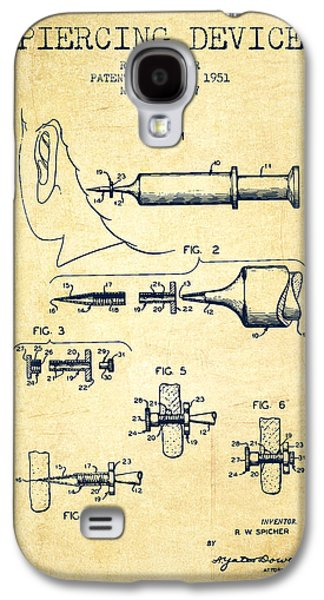 Ears Digital Art Galaxy S4 Cases - Piercing Device Patent From 1951 - Vintage Galaxy S4 Case by Aged Pixel