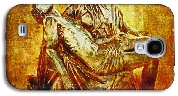 Lianne_schneider Via Dolorosa Print Digital Art Galaxy S4 Cases - Pieta 2 Galaxy S4 Case by Lianne Schneider