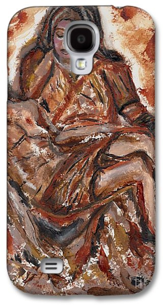 Weeping Drawings Galaxy S4 Cases - Pieta Galaxy S4 Case by Lori  Lovetere