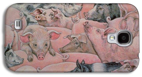 Pig Spread Galaxy S4 Case by Ditz