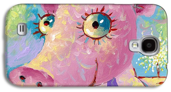 Piglets Paintings Galaxy S4 Cases - Piglet Galaxy S4 Case by Sergey Lipovtsev