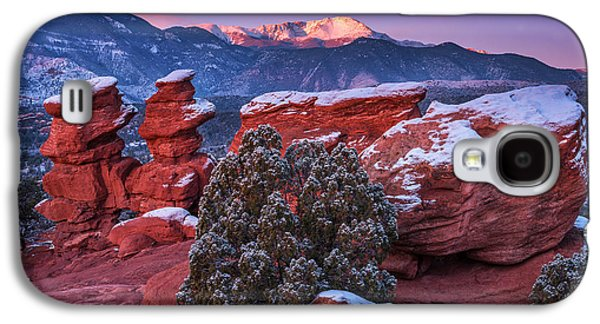 Landscape Acrylic Prints Galaxy S4 Cases - Pikes Peak Sunrise Galaxy S4 Case by Darren  White