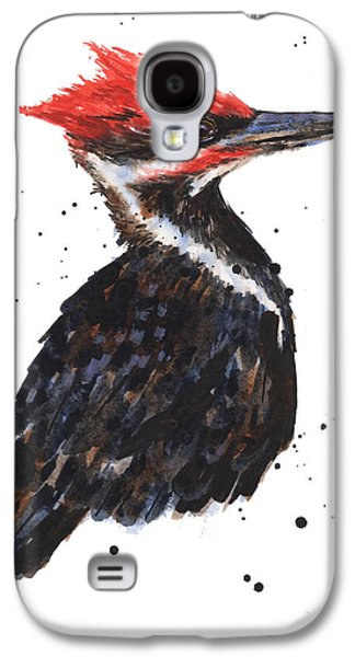 Pileated Woodpecker Watercolor Galaxy S4 Case by Alison Fennell