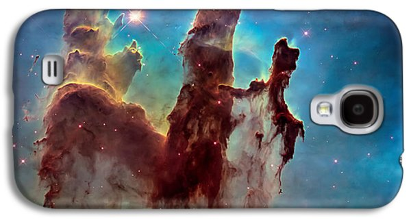 The Heavens Galaxy S4 Cases - Pillars of Creation in High Definition Cropped Galaxy S4 Case by The  Vault - Jennifer Rondinelli Reilly