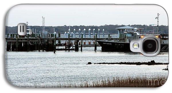 Boats At The Dock Galaxy S4 Cases - Pilot at the Dock Galaxy S4 Case by John Rizzuto