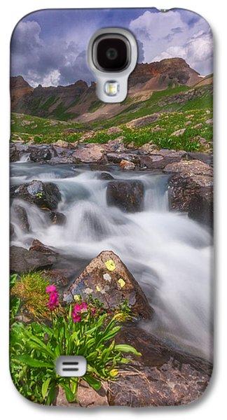 Landscape Acrylic Prints Galaxy S4 Cases - Pilot Knob Creek Galaxy S4 Case by Darren  White