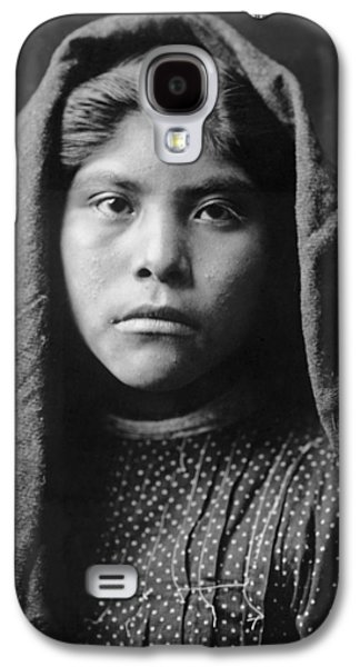 1907 Galaxy S4 Cases - Pima Indian girl circa 1907 Galaxy S4 Case by Aged Pixel