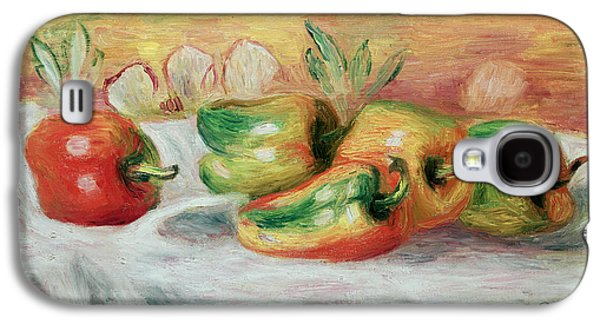 Pepper Paintings Galaxy S4 Cases - Pimientos Galaxy S4 Case by Pierre Auguste Renoir