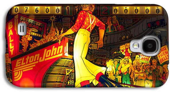 Elton John Photographs Galaxy S4 Cases - Pinball Machine Capt. Fantastic Galaxy S4 Case by Terry DeLuco