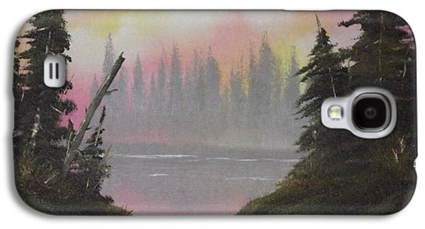 Bob Ross Paintings Galaxy S4 Cases - Pine Bay Galaxy S4 Case by Caleb Mitchell