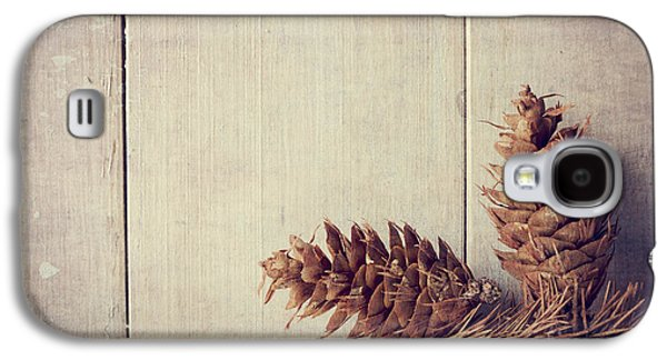 Greeting Cards Pyrography Galaxy S4 Cases - Pine cones Galaxy S4 Case by Jelena Jovanovic