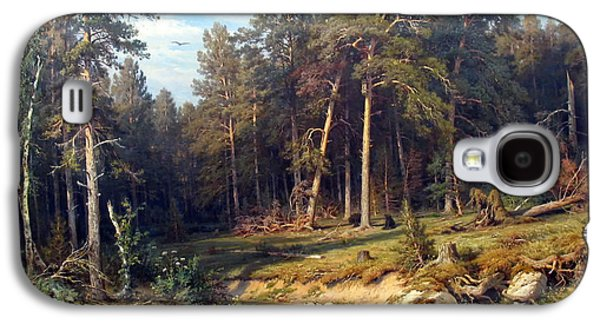 Beautiful Creek Paintings Galaxy S4 Cases - Pine Forest Galaxy S4 Case by Shishkin
