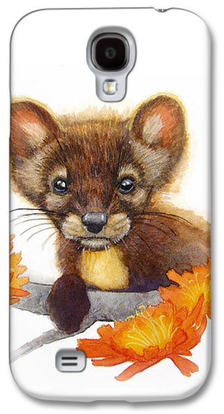 Catherine White Paintings Galaxy S4 Cases - Pine Marten Galaxy S4 Case by Catherine Noel