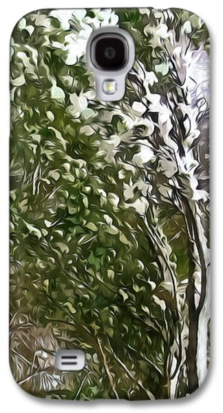 Twiggy Galaxy S4 Cases - Pine tree covered with snow Galaxy S4 Case by Lanjee Chee