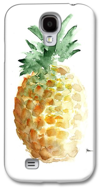 Pineapple Art Print Watercolor Painting Galaxy S4 Case by Joanna Szmerdt