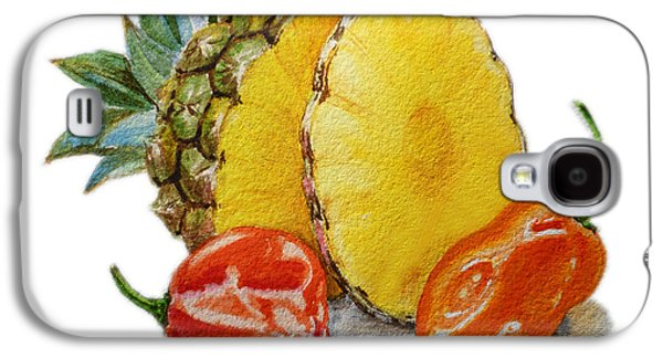 Pepper Paintings Galaxy S4 Cases - Pineapple Habanero Muy Caliente   Galaxy S4 Case by Irina Sztukowski