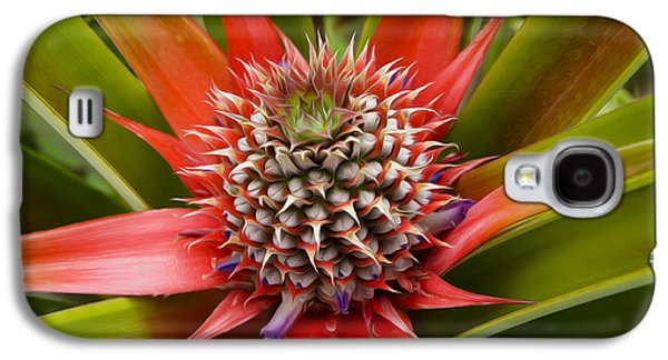Pineapple Plant Galaxy S4 Case by Aged Pixel