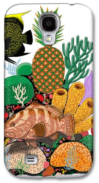 Shark Digital Galaxy S4 Cases - Pineapple Reef Galaxy S4 Case by Carey Chen