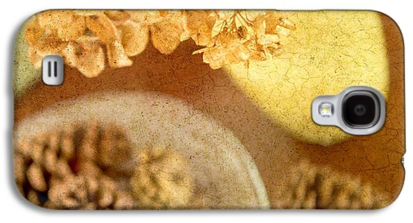 Pine Cones Photographs Galaxy S4 Cases - Pinecones and Hydrangae Galaxy S4 Case by Rebecca Cozart