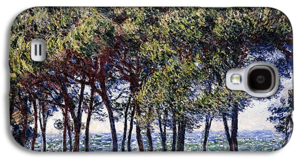 Concept Paintings Galaxy S4 Cases - Pines Galaxy S4 Case by Claude Monet